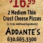 Addante's Medium Pizza Coupon